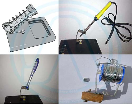 Homemade soldering iron stand We Observed