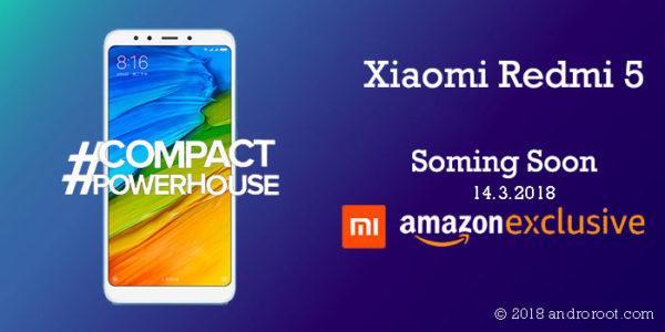 Xiaomi's Upcoming #CompactPowerhouse Xiaomi Redmi 5 Price in India