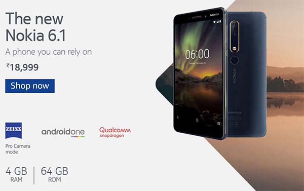 Nokia 6.1 Offers Discount