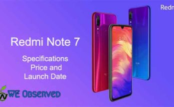 Xiaomi Redmi Note 7 Specifications