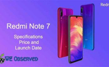Xiaomi Redmi Note 7 Specifications