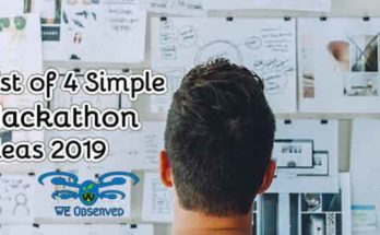 Simple Hackathon Ideas 2019