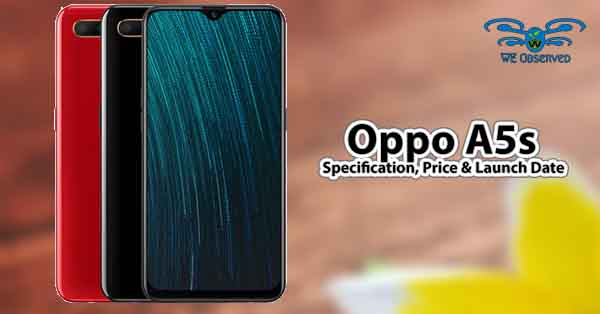 Oppo A5s Specification and Price